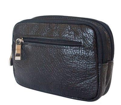 Кожаная поясная сумка Arnara black (арт. 7006-01)