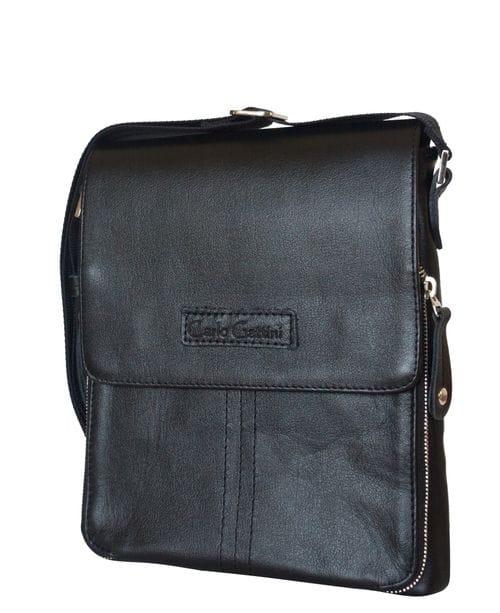 Кожаная мужская сумка Volano black (арт. 5035-01)