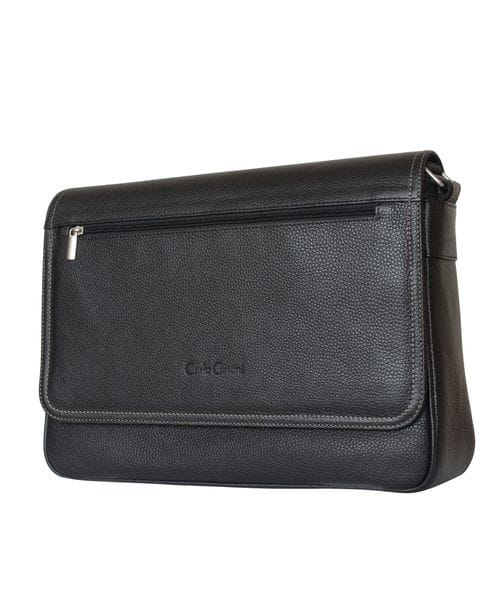 Кожаная сумка Adelano black (арт. 5025-01)