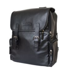 Кожаный рюкзак Santerno black (арт. 3007-05)