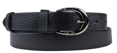 Кожаный ремень Valsorda black (арт. 9022-01)