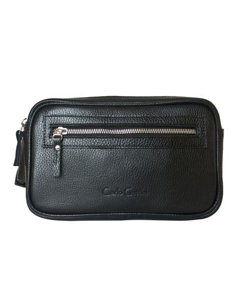 Кожаная поясная сумка Terlano black (арт. 7005-01)