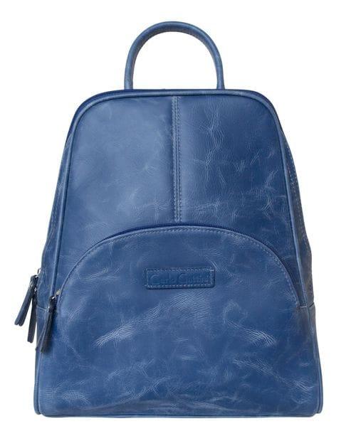 Женский кожаный рюкзак Estense blue (арт. 3014-07)