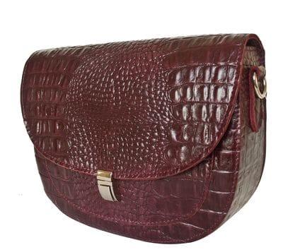 Кожаная женская сумка Amendola burgundy (арт. 8003-09)