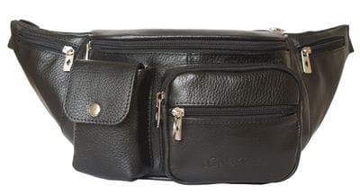 Кожаная поясная сумка Settimo black (арт. 7002-01)