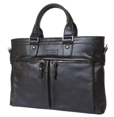 Кожаная мужская сумка Talponera black (арт. 5019-01)