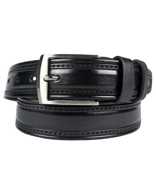 Кожаный ремень Carvello black (арт. 9004-01)