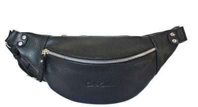 Кожаная поясная сумка Belfiore black (арт. 7003-01)