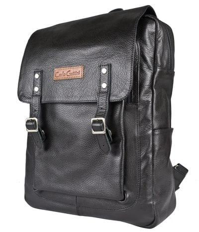 Кожаный рюкзак Montalfano black (арт. 3065-01)