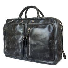 Кожаная сумка-рюкзак Ferrone black (арт. 3063-05)