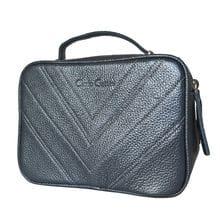 Кожаная женская сумка Prastia shiny grey (арт. 8013-40)