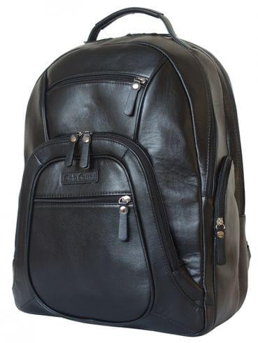 Кожаный рюкзак Gerardo black (арт. 3045-01)