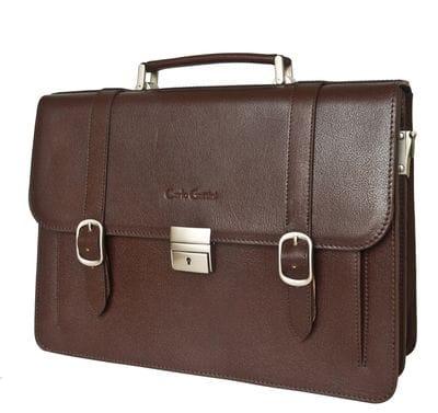 Кожаный портфель Tolmezzo brown (арт. 2023-31)