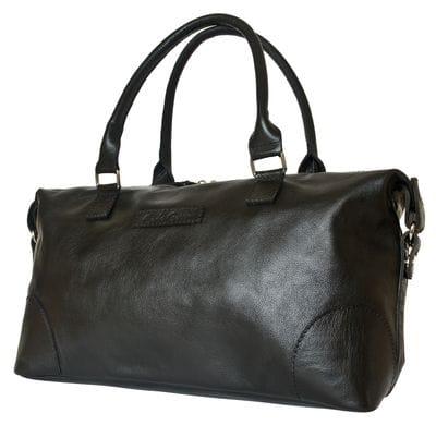 Кожаная женская сумка Fravitta black (арт. 8017-01)