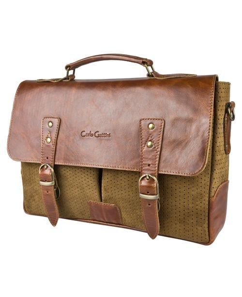 Кожаный портфель Gisbarro brown (арт. 2030-02)