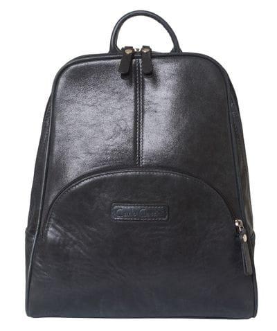Женский кожаный рюкзак Estense black (арт. 3014-20)