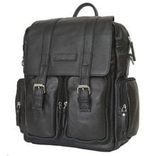 Кожаный рюкзак-сумка Fiorentino black (арт. 3003-01)