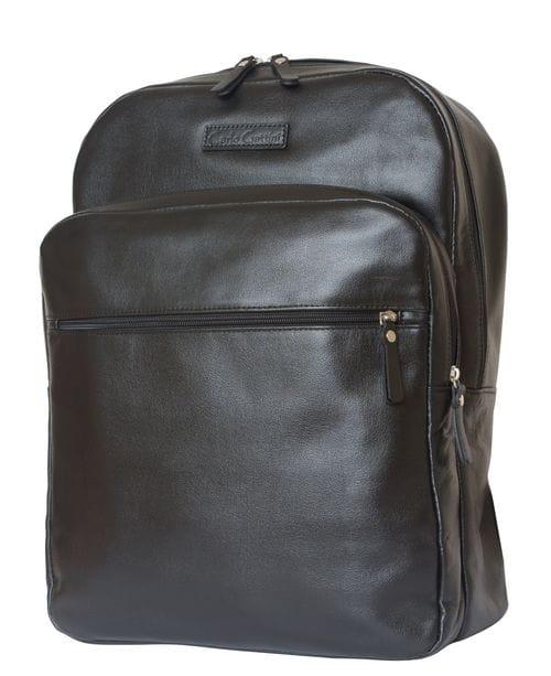 Кожаный рюкзак для ноутбука Monferrato black (арт. 3017-01)