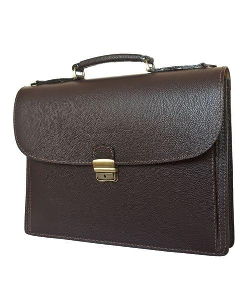 Кожаный портфель Valcavo brown (арт. 2016-04)