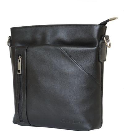 Кожаная мужская сумка Lonato black (арт. 5011-01)