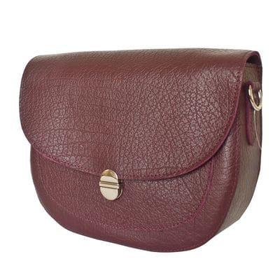 Кожаная женская сумка Amendola burgundy (арт. 8003-89)