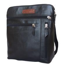 Кожаная мужская сумка Assenza black (арт. 5026-01)