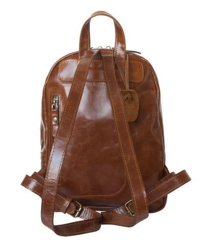 Женский кожаный рюкзак Anzolla cognac (арт. 3040-03)