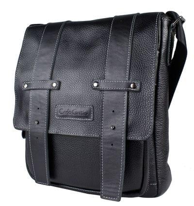 Кожаная мужская сумка Comabbio black (арт. 5060-01)