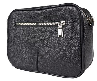 Кожаная женская сумка Melotta black (арт. 8016-01)