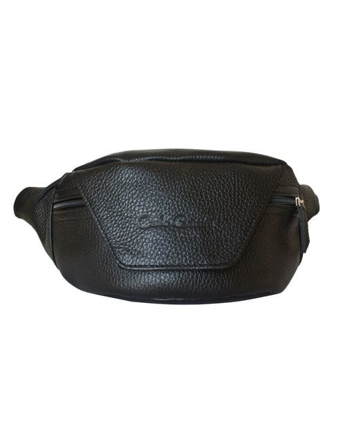Кожаная поясная сумка Canello black (арт. 7004-01)