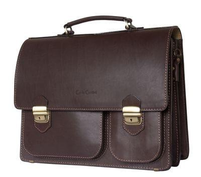 Кожаный портфель Fagetto brown (арт. 2004-31)