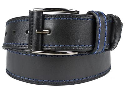 Кожаный ремень Montalbo black (арт. 9007-01)