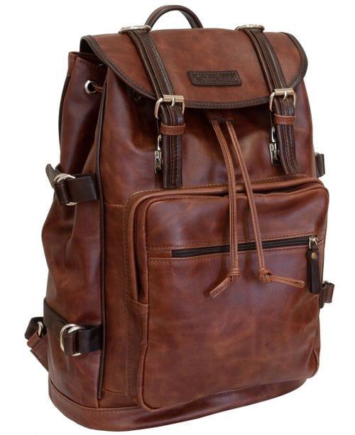 Кожаный рюкзак Volturno cognac/brown (арт. 3004-03)