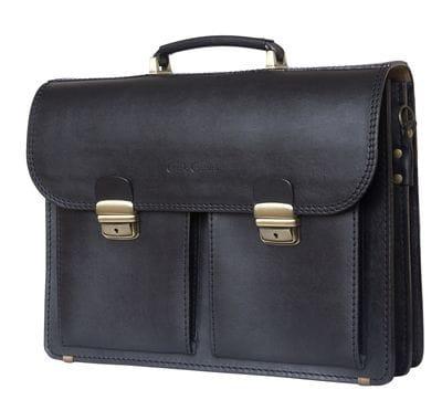 Кожаный портфель Montelago black (арт. 2002-30)