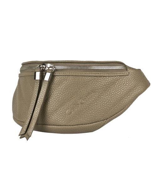 Кожаная поясная сумка Vicenne cappuccino (арт. 7013-04)