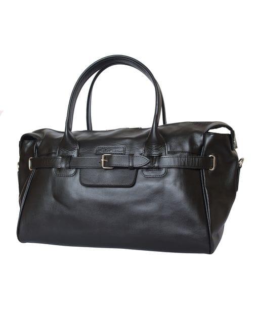 Кожаная дорожно-спортивная сумка Adamello black (арт. 4003-01)