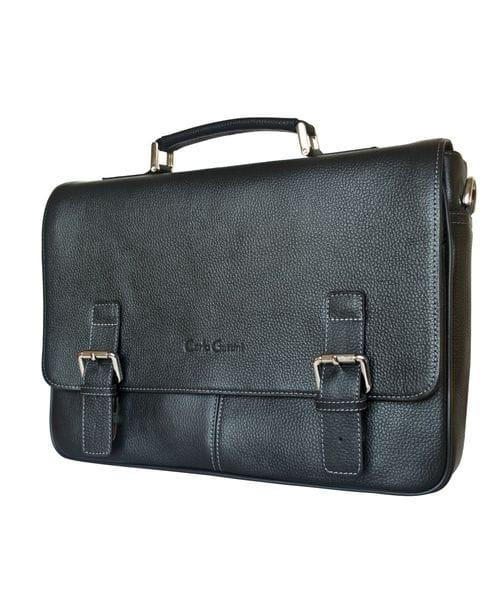 Кожаный портфель Saletto black (арт. 2020-01)