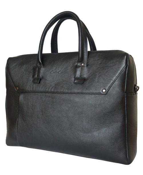 Кожаная мужская сумка Fontanelle black (арт. 5039-01)