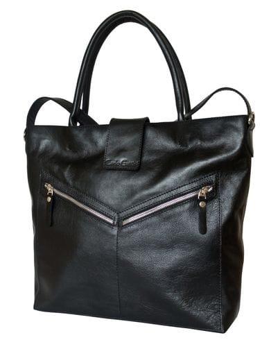 Кожаная женская сумка Vallena black (арт. 8018-01)