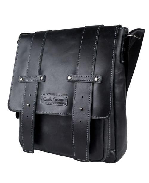 Кожаная мужская сумка Comabbio black (арт. 5060-91)