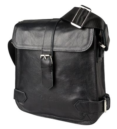 Кожаная мужская сумка Antimo black (арт. 5055-01)
