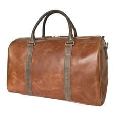 Кожаная дорожная сумка Noffo cog/brown (арт. 4018-03)