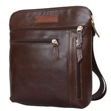 Кожаная мужская сумка Assenza dark terracotta (арт. 5026-94)