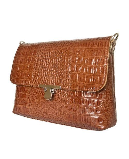Кожаная женская сумка Fiesco brown (арт. 8015-03)