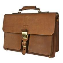Кожаный портфель Soffranco brown (арт. 2025-31)