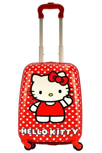 Чемодан детский Atma kids Hello Kitty, red white dots, 44 см