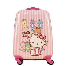 Чемодан детский Atma kids, Hello Kitty, pink stripes, 44 см