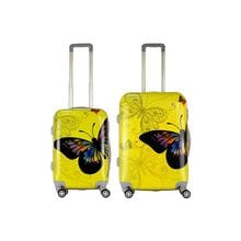 Комплект чемоданов 2в1 Impreza Butterfly - Yellow (M+S)