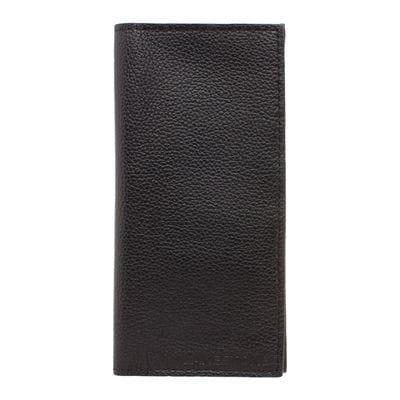 Клатч Byron Black мужской кожаный черный