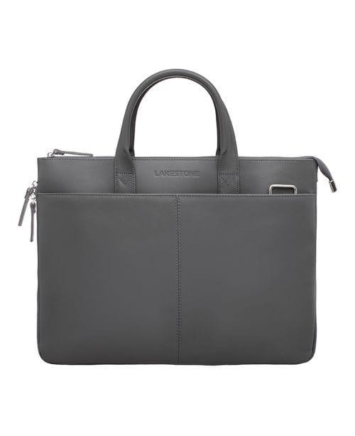 Кожаная деловая сумка Bolton Grey
